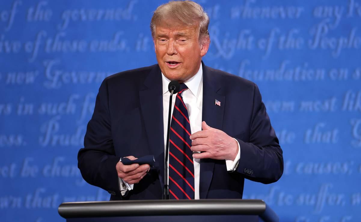 Trump descarta otro formato de debates electorales entre críticas demócratas