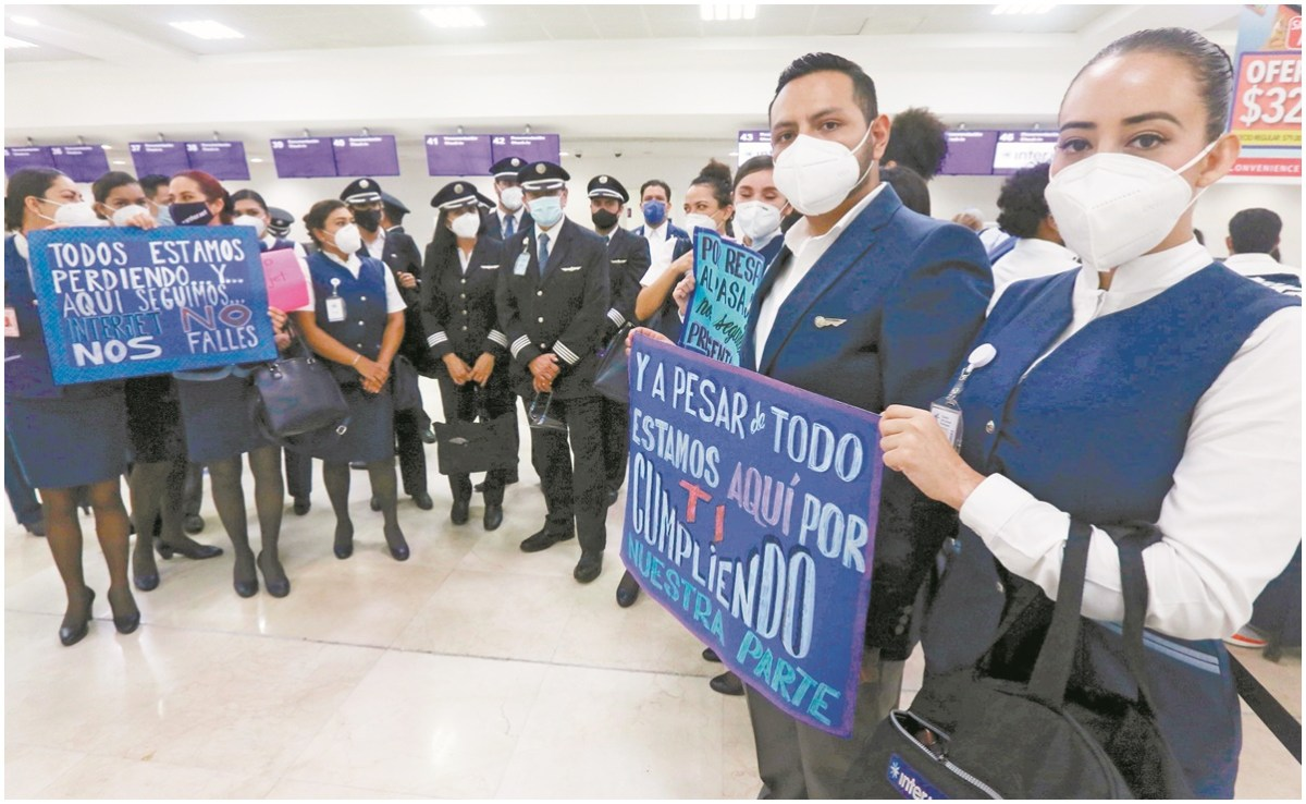 Trabajadores de Interjet aplazan huelga al 4 de diciembre
