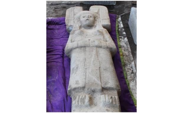 Escultura hallada en Veracruz