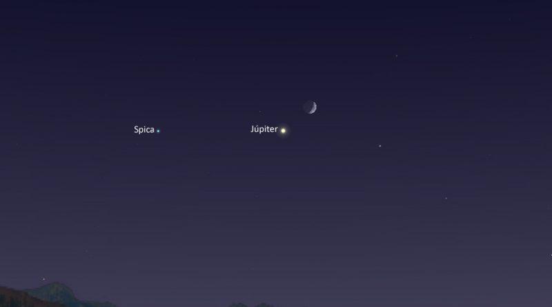 Resultado de imagen para conjunción de la Luna y el planeta Júpiter