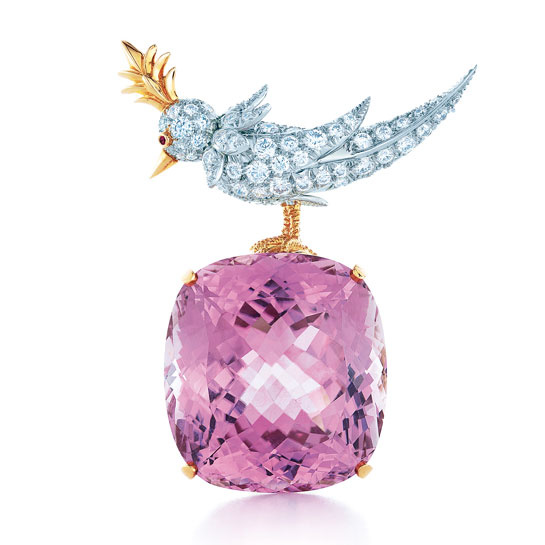 bird on a rock kunzite