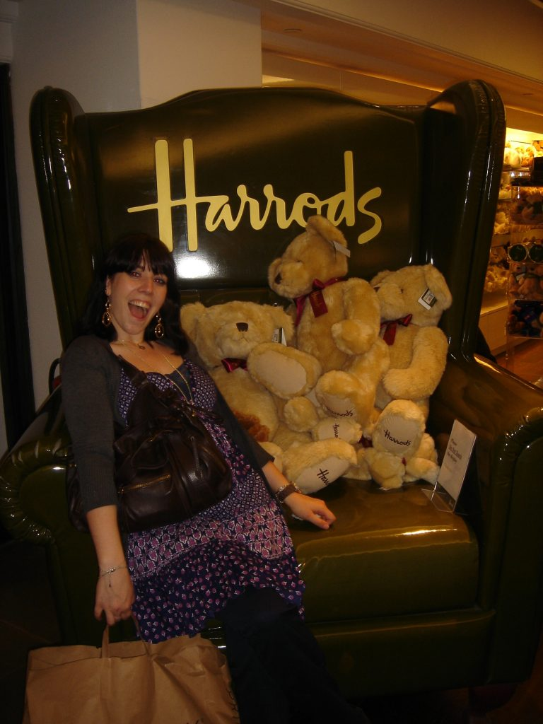 And me chez Harrods