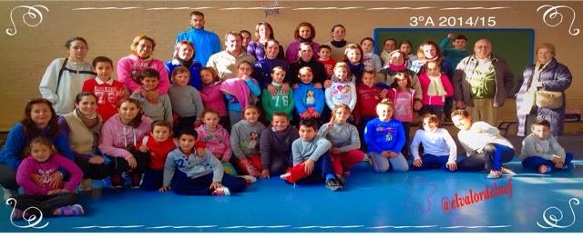 foto 3ºA discapacidad y familia en educación física: educación física en familia