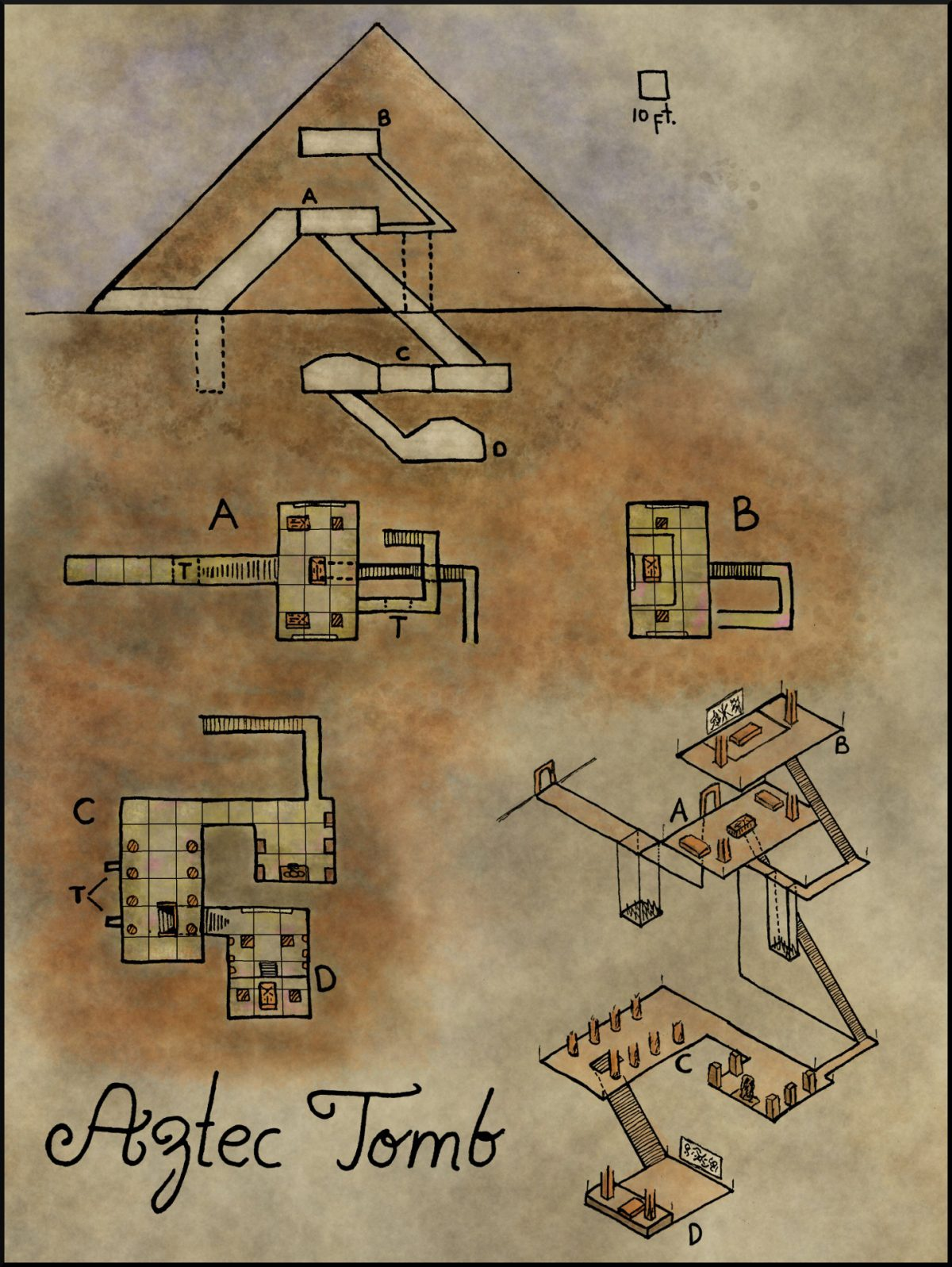 Map 20   Aztec Pyramid   Elven Tower Map 20     Aztec Pyramid