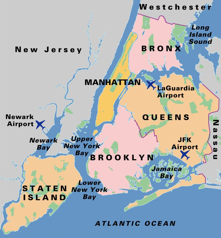 Barrios en Nueva York
