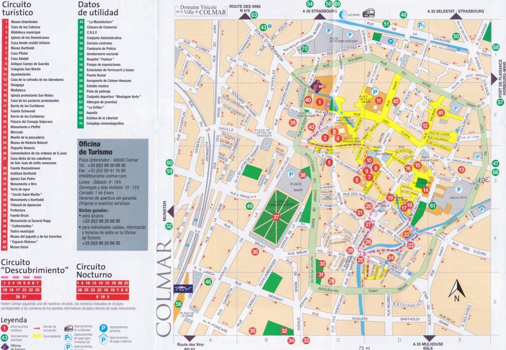 Mapa de Colmar