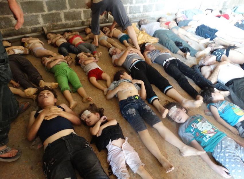 Víctimas de ataque en Goutha, Siria