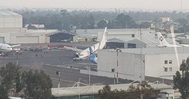 Airbus A300 de Aerounión tuvo un percance en el Aeropuerto Internacional de Ciudad de México