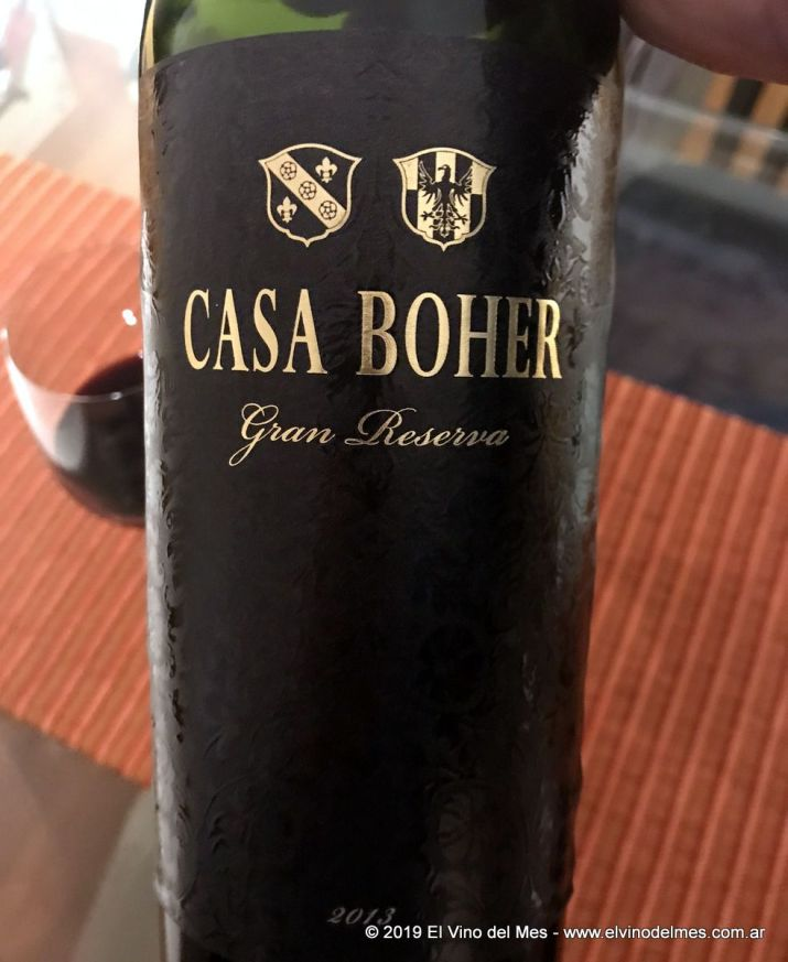 Resumen 2019 de El Vino del Mes - Junio: Casa Boher Gran Reserva 2013