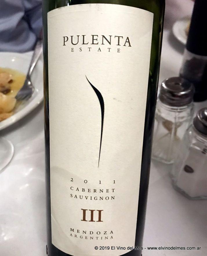 Resumen 2019 de El Vino del Mes - Agosto: Pulenta Estate III Cabernet Sauvignon 2011