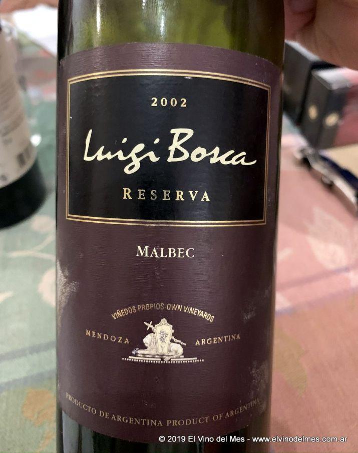 Resumen 2019 de El Vino del Mes - Septiembre: Luigi Bosca Reserva Malbec 2002