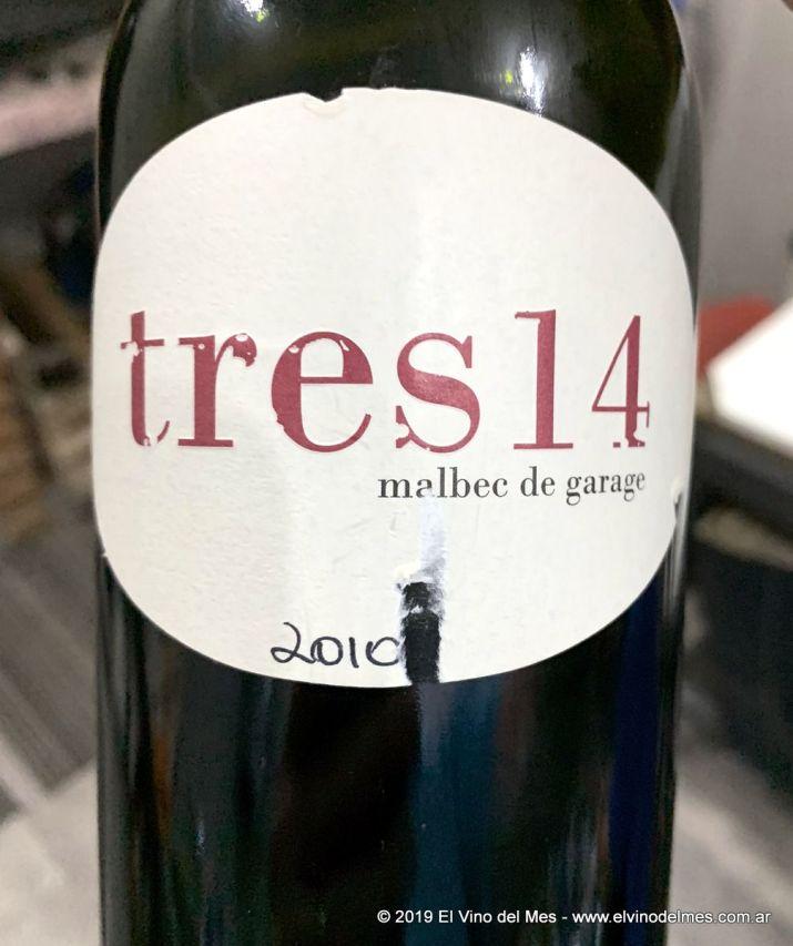 Resumen 2019 de El Vino del Mes - Noviembre: Tres14 Malbec 2010