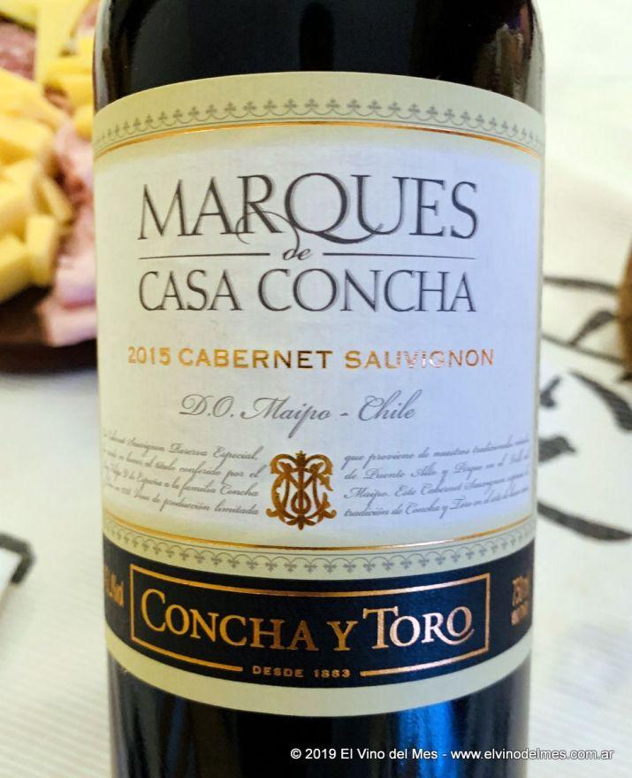 Resumen 2019 de El Vino del Mes - Diciembre: Marques de Casa Concha Cabernet Sauvignon 2015