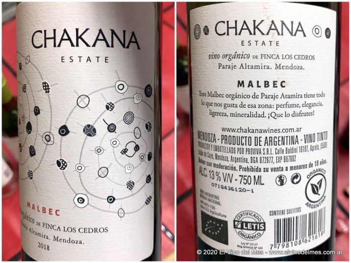 Chakana Estate Finca Los Cedros Malbec 2018