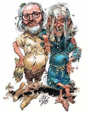 Golden Caricatures Volume 1: drawing of Bill Gaines and the Cryptkeepr by Jack Davis.