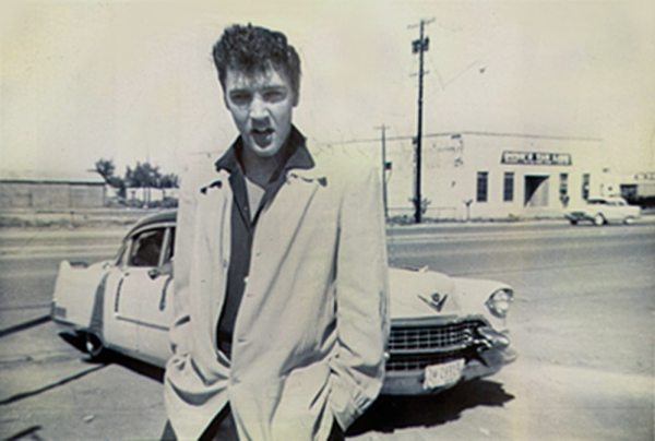 Always Divided: photo of Elvis in Midland, Texas, in 1955.