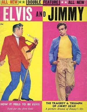 Always Divided: front cover of the ELVIS AND JIMMY magazine from 1956.