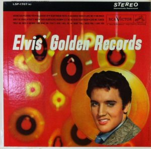 Electronically Reprocessed Stereo: front cover of original stereo ELVIS' GOLDEN RECORDS album.