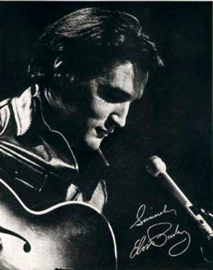 Another Mess Of Blues: photo (2) of Elvis making the NBC-TV Special on June 27, 1968.