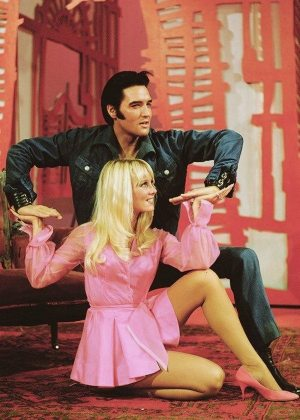 Another Mess Of Blues: photo of Elvis and Susan Henning in the 1968 NBC-TV Special.