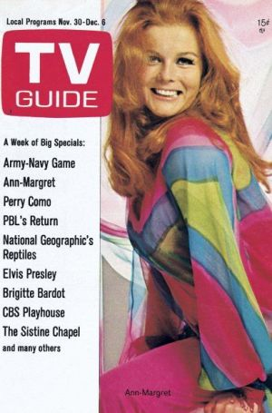 Always Divided: front cover of the November 30-December 6, 1968, issue of TV GUIDE with Ann-Margret.