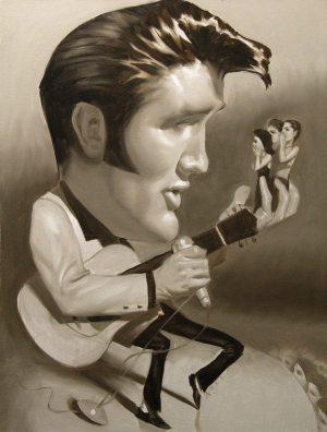 Golden Caricatures Volume 1: caricature of Elvis by Dan Adel.