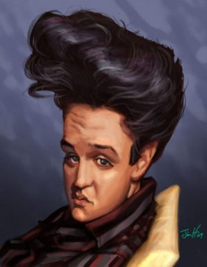 Golden Caricatures Volume 3: caricature of Elvis by Jim H.