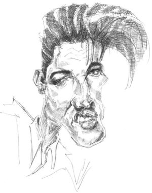 Golden Caricatures Volume 1: caricature #2 of Elvis by You Can Draw.