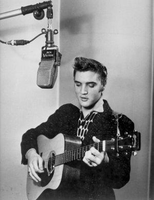 Quora Question: photo of Elvis in RCA Victor's New York studio in 1955.