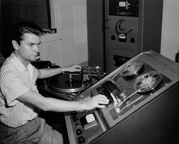 Quora Question: photo of Sam Phillips in his studio in the 1950s.