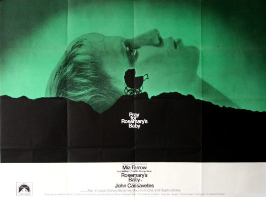 Good Omens: poster from 1968 movie ROSEMARY'S BABY.
