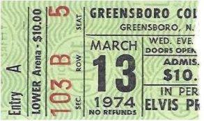 Image result for elvis presley march 13, 1974