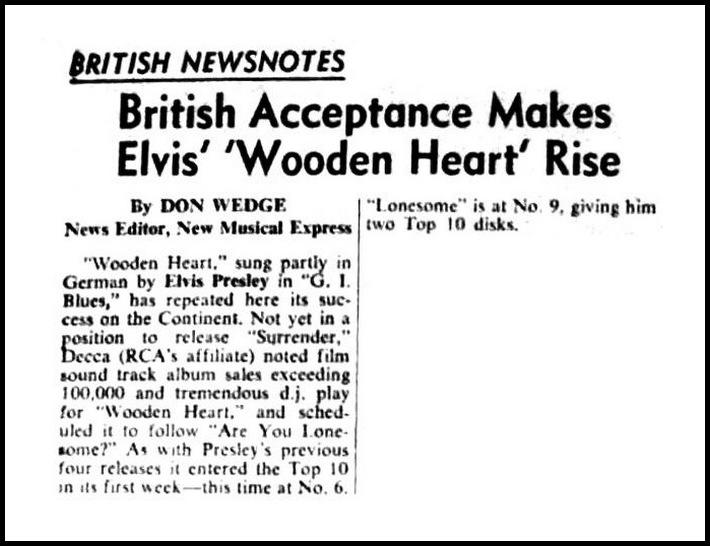 Image result for elvis presley march 13, 1961