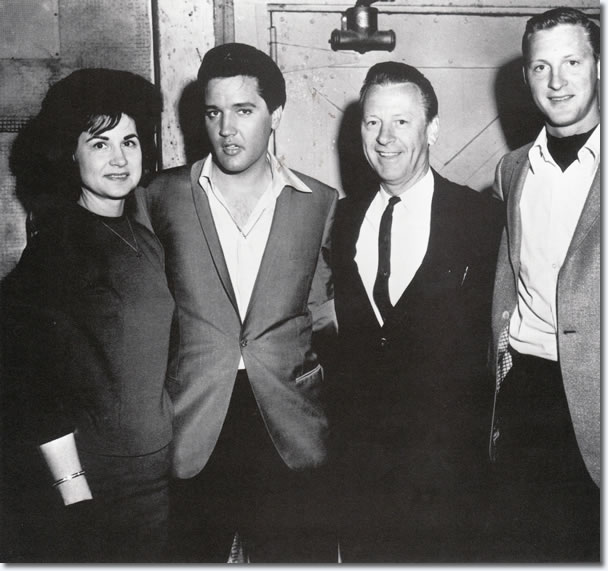 Country singer, Kitty Wells, Elvis Presley, John Wright (Kitty's husband), and their son.