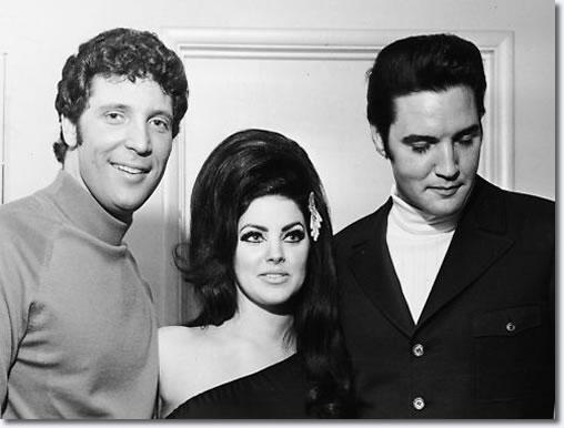 Tom Jones, Priscilla and Elvis Presley: Flamingo Hotel, Las Vegas : April 6, 1968.