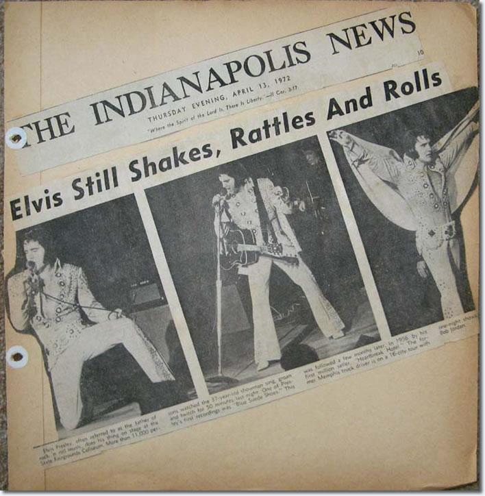 Elvis Presley : Indianapolis, IN. : April 12, 1972