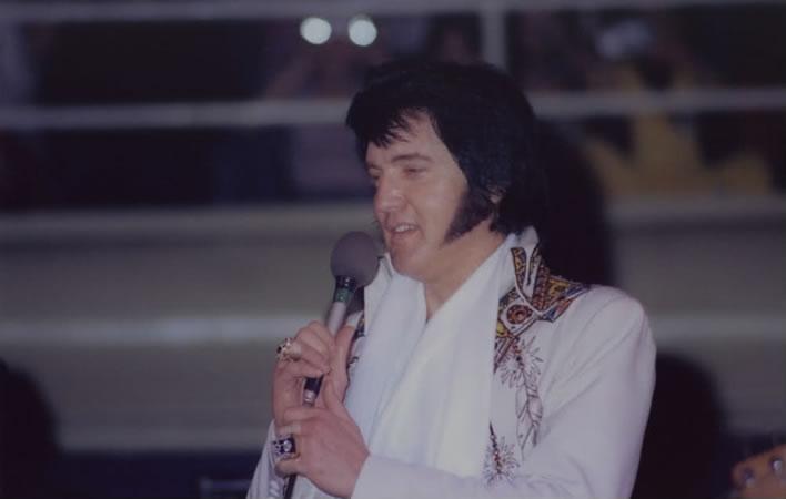 Elvis Presley in Charlotte, NC. February 21, 1977. Charlotte NC.
