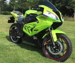 Электромотоцикл Elwinn EM-BM зеленого цвета