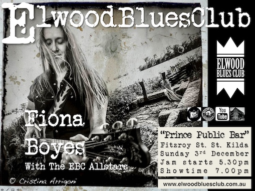 Fiona Boyes at the Elwood Blues Club