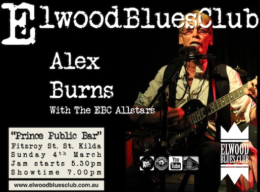 Alex Burns at Elwood Blues Club