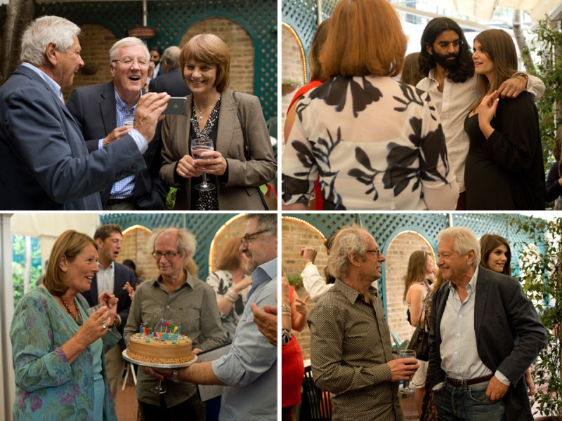 london birthday party photography 70th celebration guests fun
