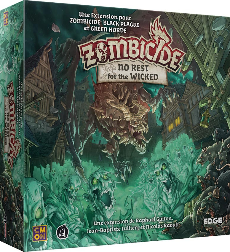 No Rest for the Wicked & Friends and Foes – Zombicide Black Plague/Green Horde – EDGE Entertainment France