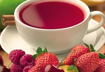 cha de frutas vermelhas para gripe