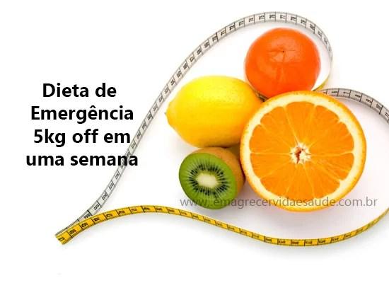Dieta de Emergencia para emagrecer 5kg por semana