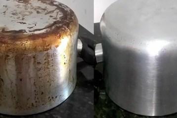 panelas queimadas de gordura