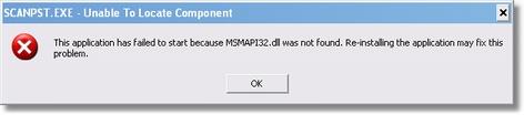 Inbox Repair Tool Error Message