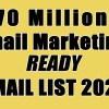 70 million email list