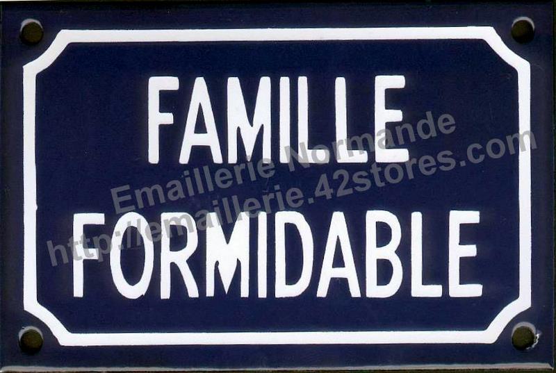Plaque Maille Humoristique 10x15cm Famille Formidable