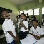 Mahamaya-Grundschule Hikkaduwa Sri Lanka Wiederaufnahme Schulbetrieb