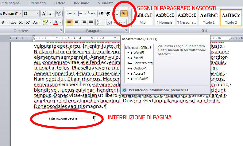 interruzioni di pagina